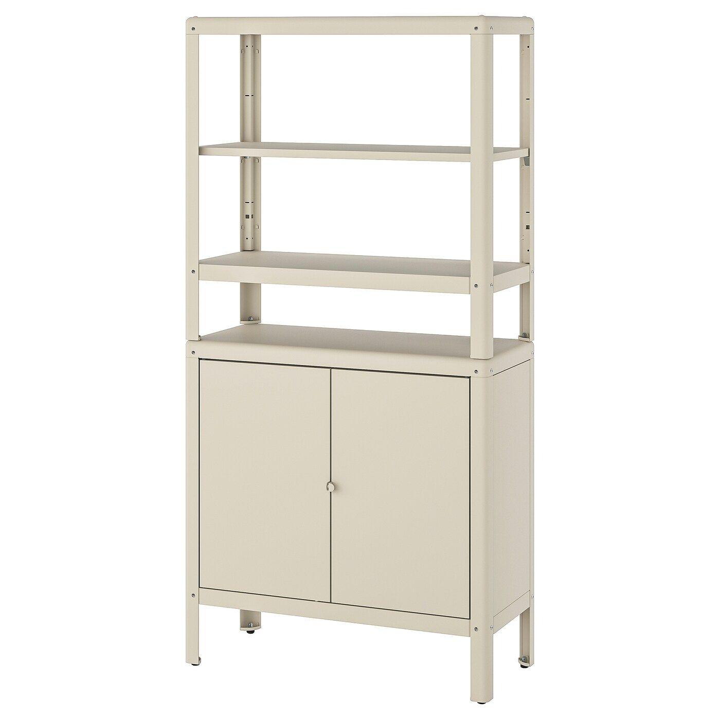 Kolbjorn Shelving Unit With Cabinet Beige Ikea Switzerland In 2020 Shelves Beige Shelves Shelving Unit