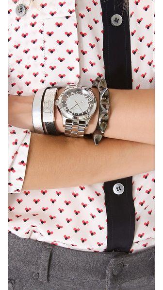 Marc - Henry Skeleton Watch & Bracelets