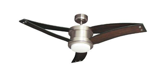 Troposair Triton Ii Ceiling Fan In Satin Steel With 52 Quot Distressed Cherry Blades Integrated Light And Unique Ceiling Fans Ceiling Fan Bronze Ceiling Fan