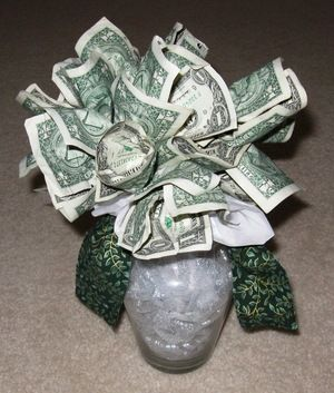 mony gift for graduation | how to make a money tree flower bouquet craft gift idea for graduation ...