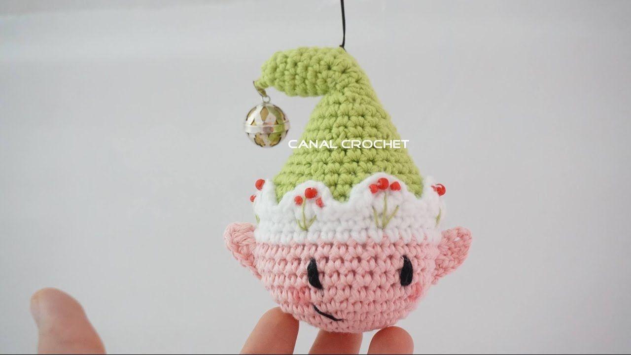 Bola duende amigurumi | bolas de Navidad, Crochet patrones y El arbol