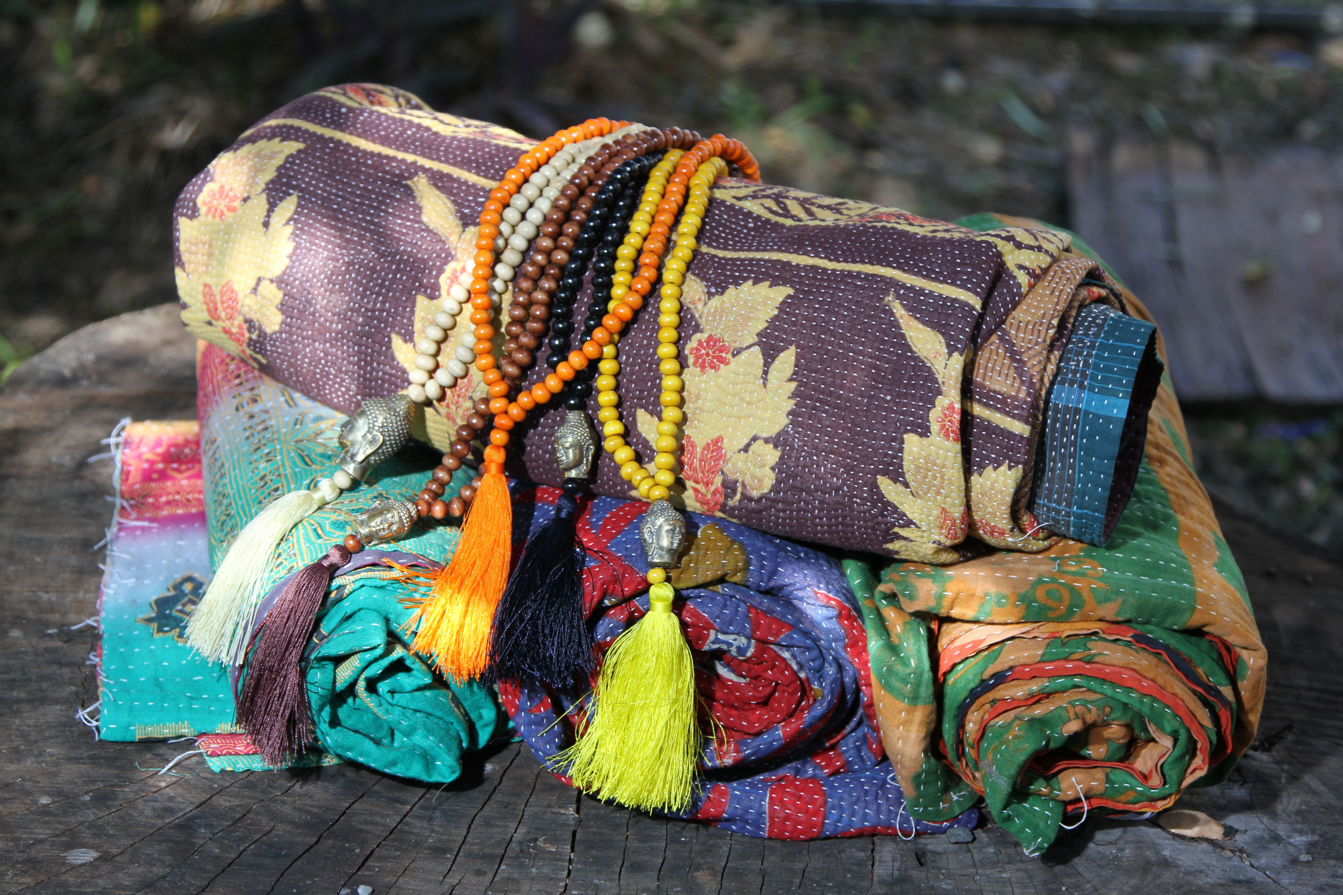 vibrance of kantha quilts