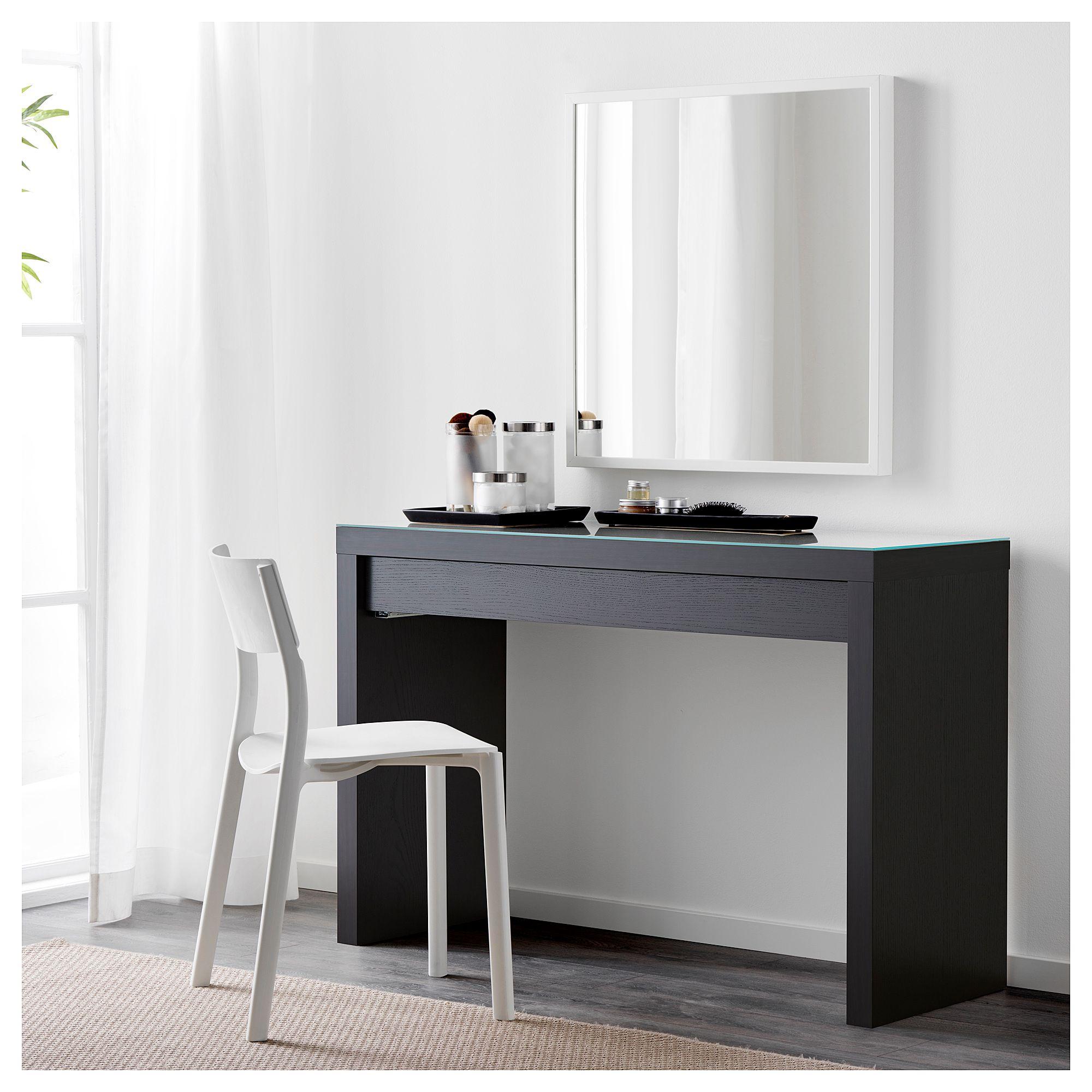 Malm Dressing Table Black Brown 47 1 4x16 1 8 120x41 Cm
