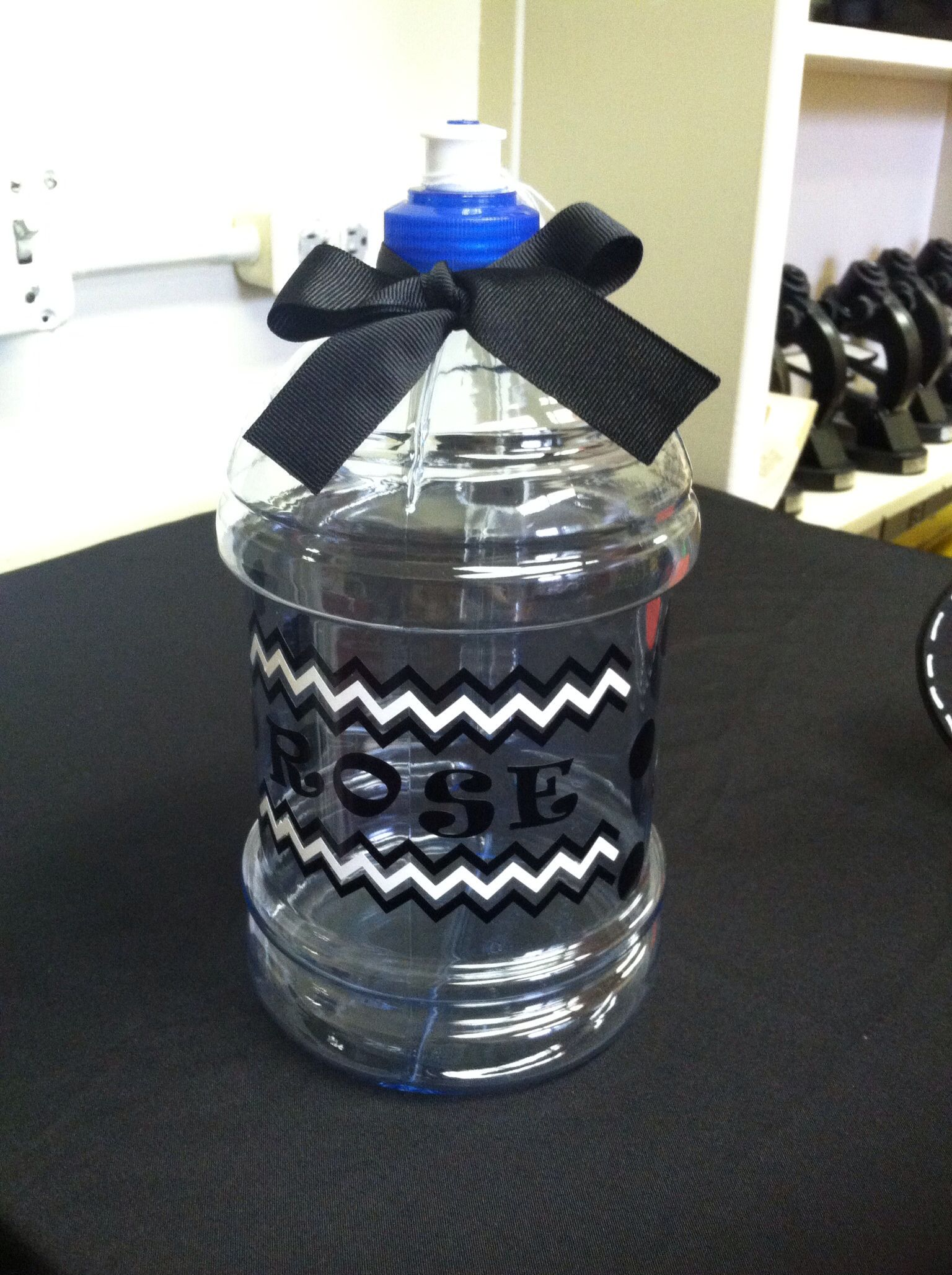 Water Jug With Vinyl Stickers Made With My Silhouette - Where to get vinyl stickers made