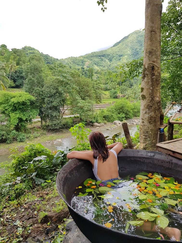 Philippine Jacuzzi With A View Hot Kawa Bath Tibiao Antique Philippines Near Boracay Jacuzzi Outdoor Outdoor Jacuzzi