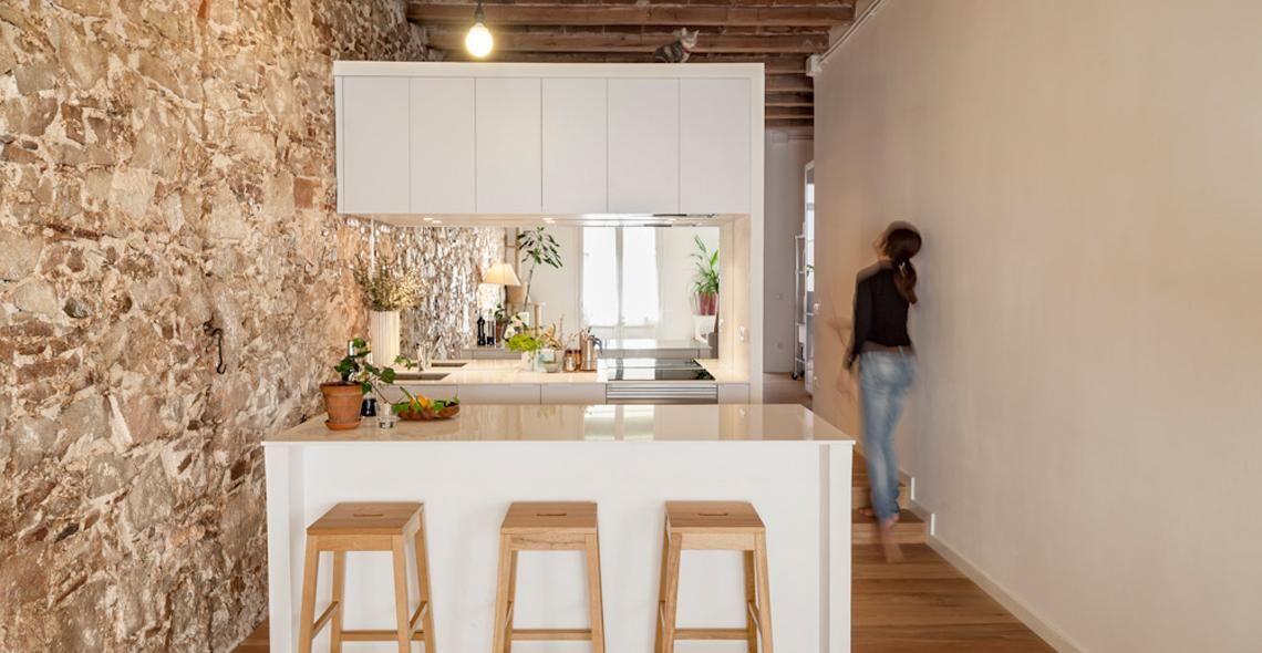 Un piccolo appartamento trasformato in un loft open space