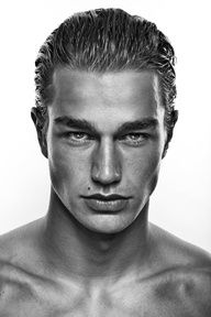 Something is. Male model facial structure thought differently