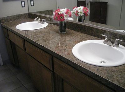 Painting a Faux Granite Formica/Laminate Counter Tops ...