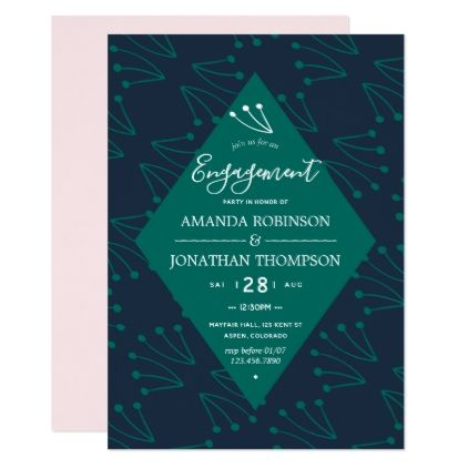 glam colors spring engagement invitation glam gifts unique diy