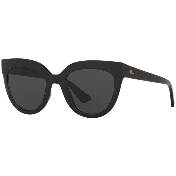 b537168e90f Dior Cd Soft 1 s 51 Black Shiny Cat Sunglasses (1295 QAR) ❤ liked on  Polyvore featuring accessories