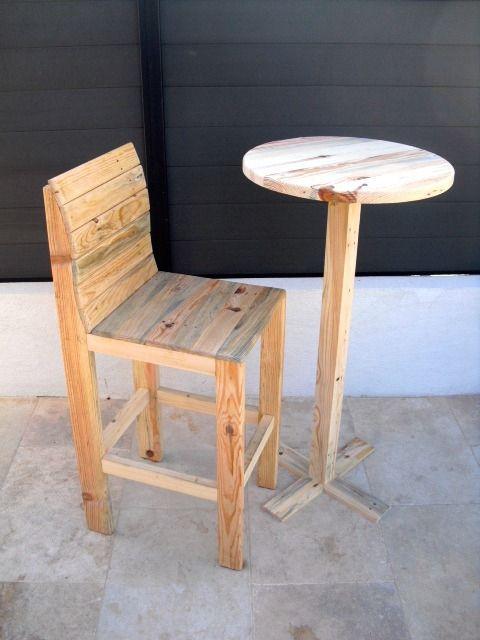 ensemble mange debout chaise haute palette works meubles et rangements par paletteworks. Black Bedroom Furniture Sets. Home Design Ideas