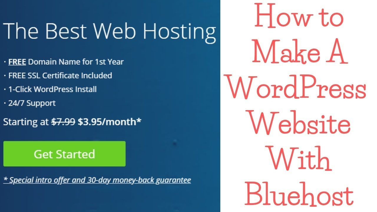 How to make a wordpress website with bluehost for