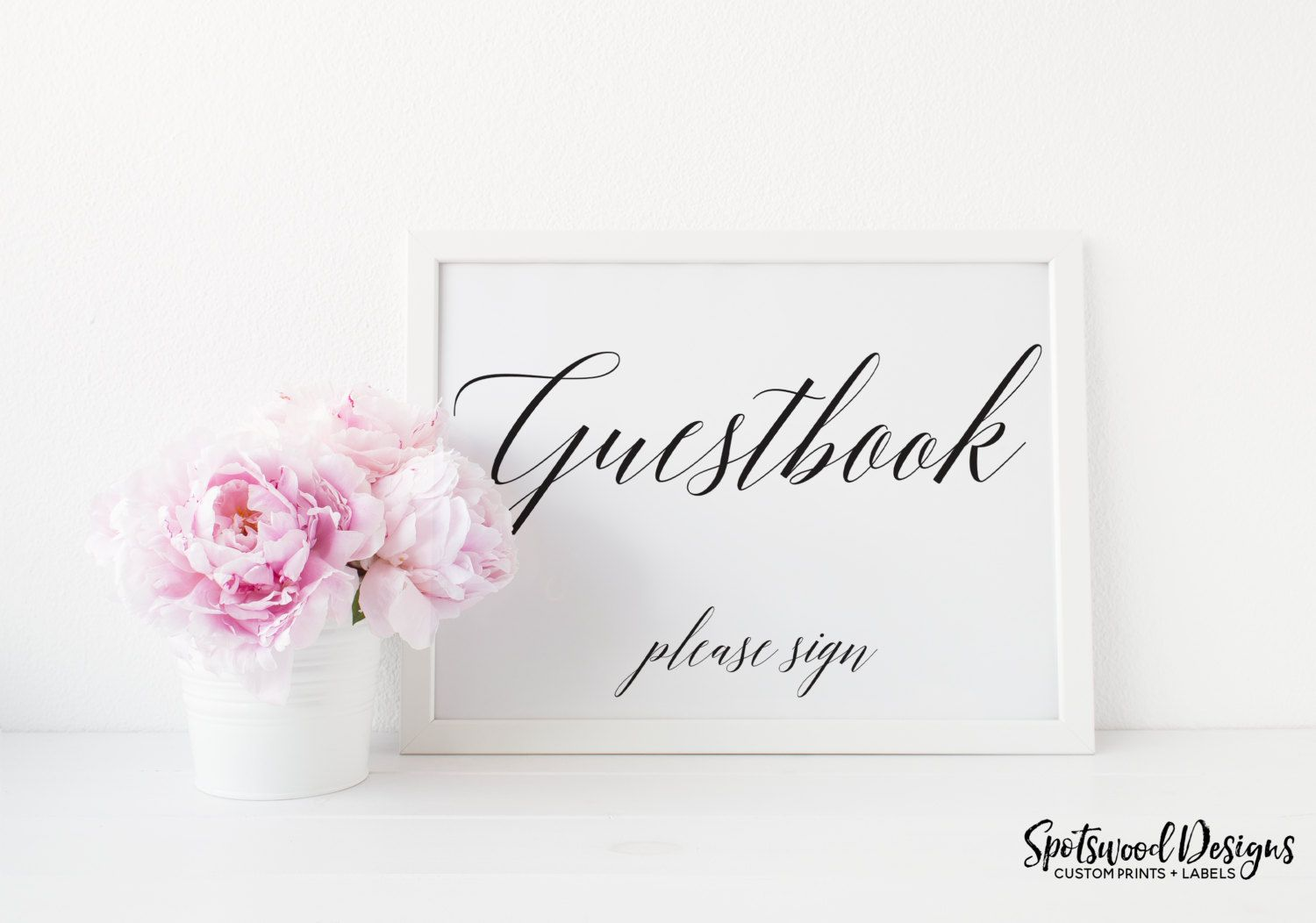 Guestbook Sign. Printable. Wedding Reception Decorations. Engagement ...