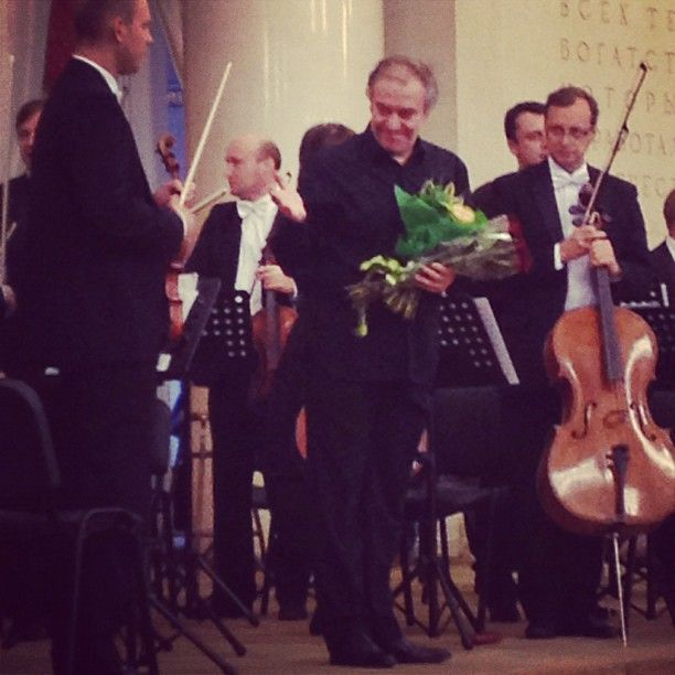 Mariinsky Orchestra & Valery Gergiev at the Moscow State University on 25 September 2012. Photo by @evasam21.