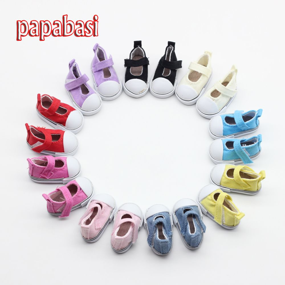 Free shipping Assorted Colors 5cm Canvas Shoes For 1/6 BJD Doll Fashion Mini Toy Shoes Bjd Shoes for Russian Tilda Doll shoes #>=#>=#>=#>=#> Click on the pin to check out discount price, color, size, shipping, etc. Save and like it!