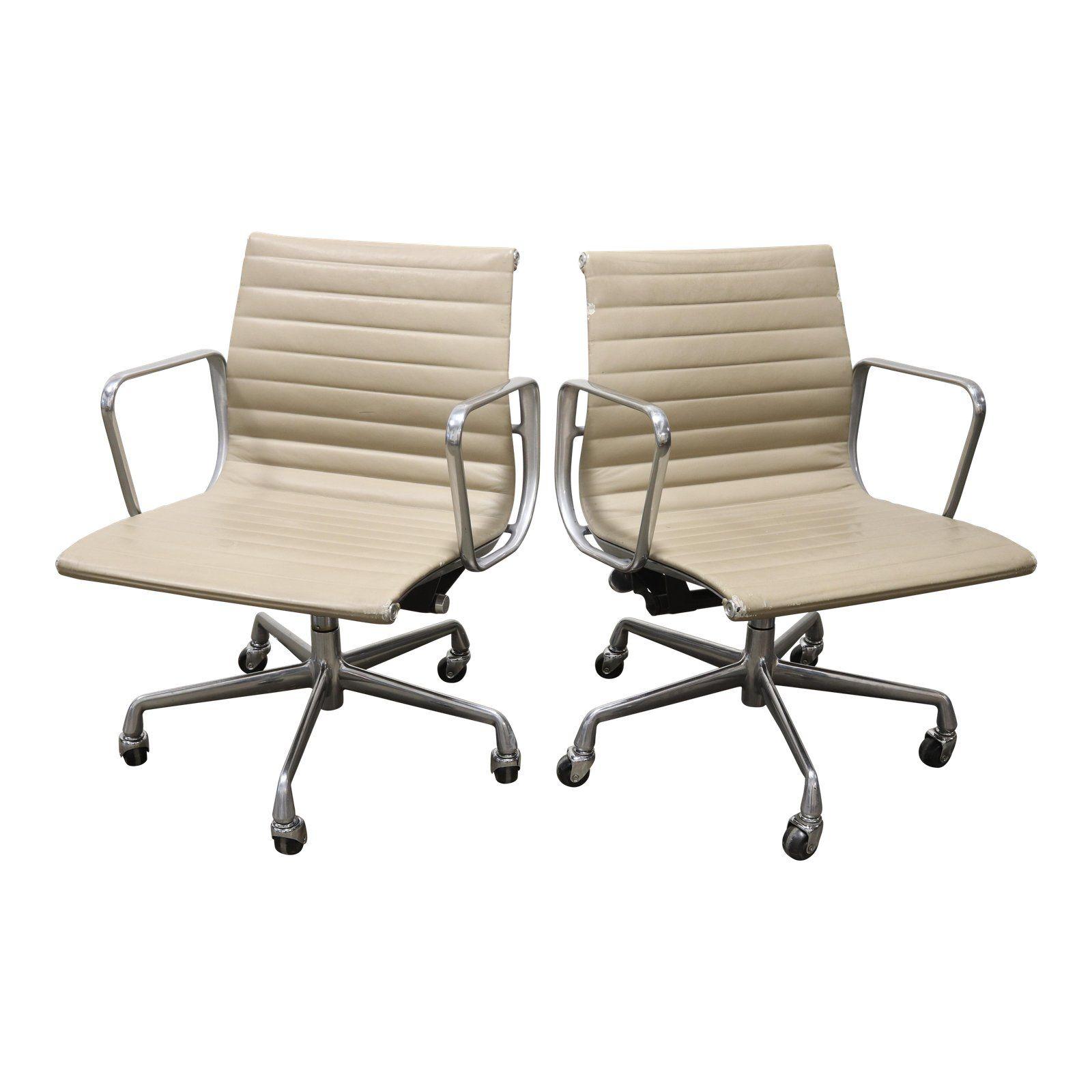 1990s Vintage Herman Miller Eames Aluminum Group Management Chair