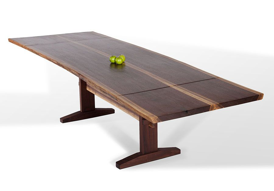 Walnut Extension Table | Custom Dining Tables | David Stine Woodworking