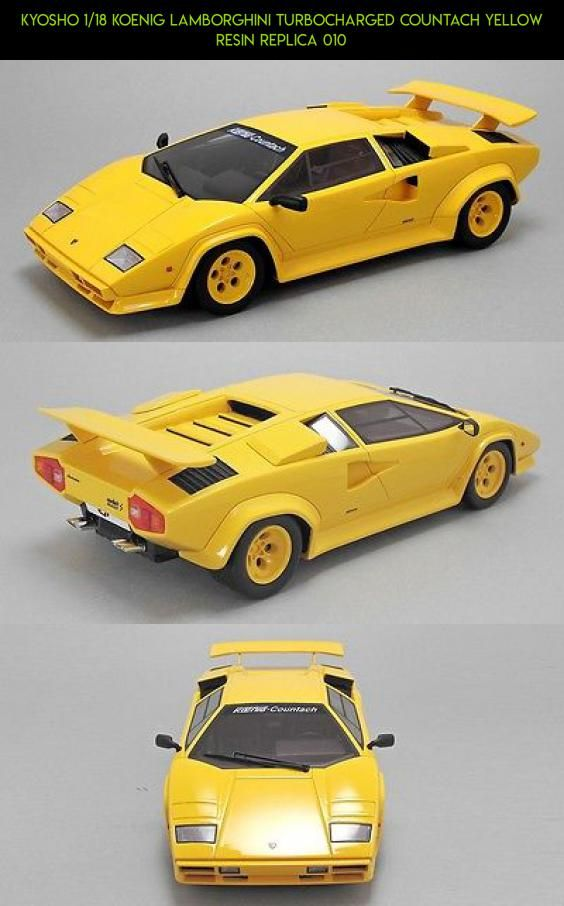 Kyosho 1 18 Koenig Lamborghini Turbocharged Countach Yellow Resin