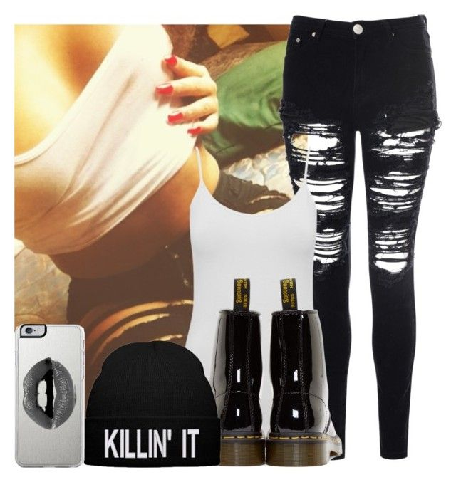 """I Know I Look Good"" by leelamonroe96 ❤ liked on Polyvore featuring Glamorous, M&Co, Dr. Martens and Lipsy"