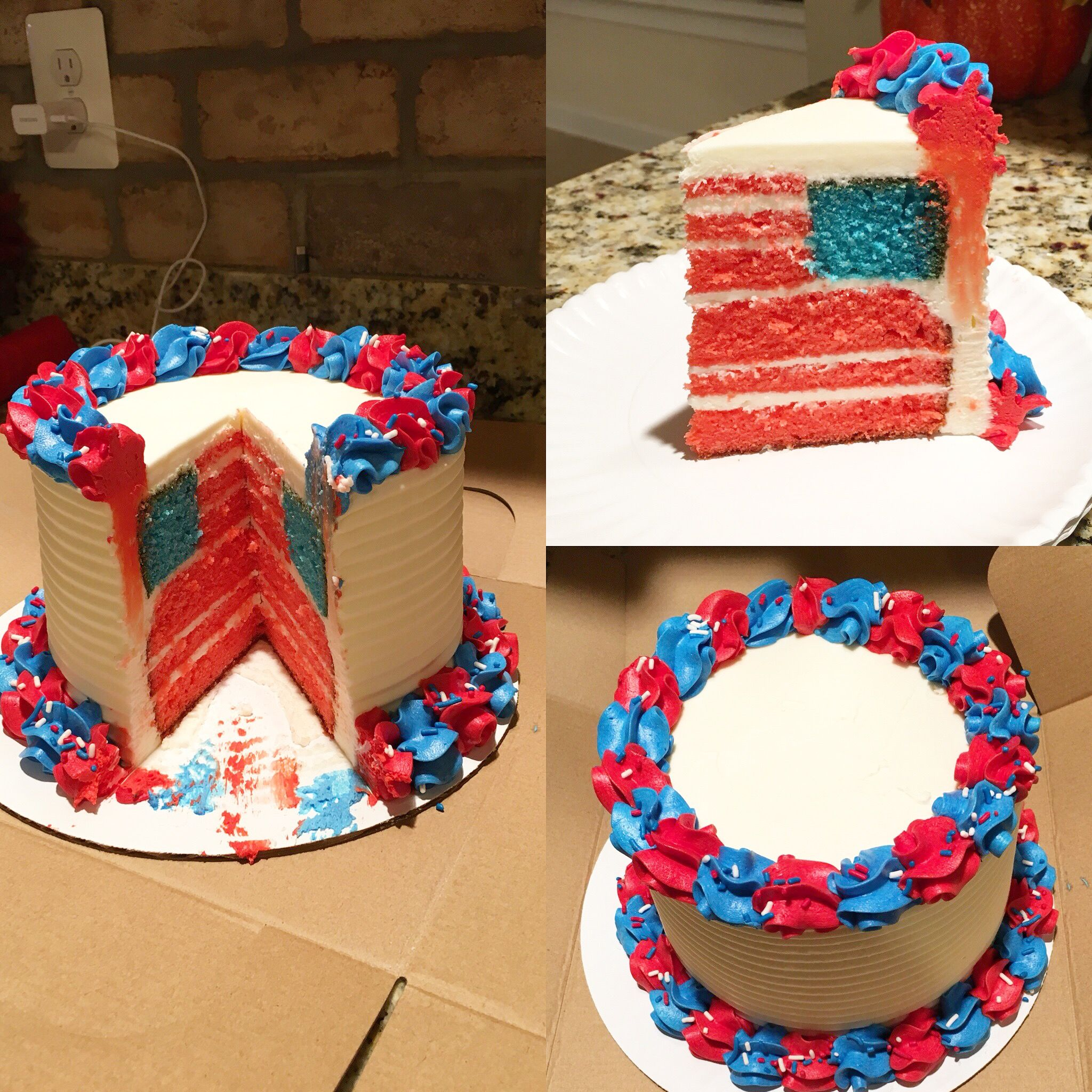 Sorby Sweets Patriotic Cake Red White And Blue American Flag