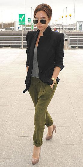032ba55b6 Nude Styles Urbains, Olivia Palermo, Olive Green Pants Outfit, Khaki Pants  Outfit,