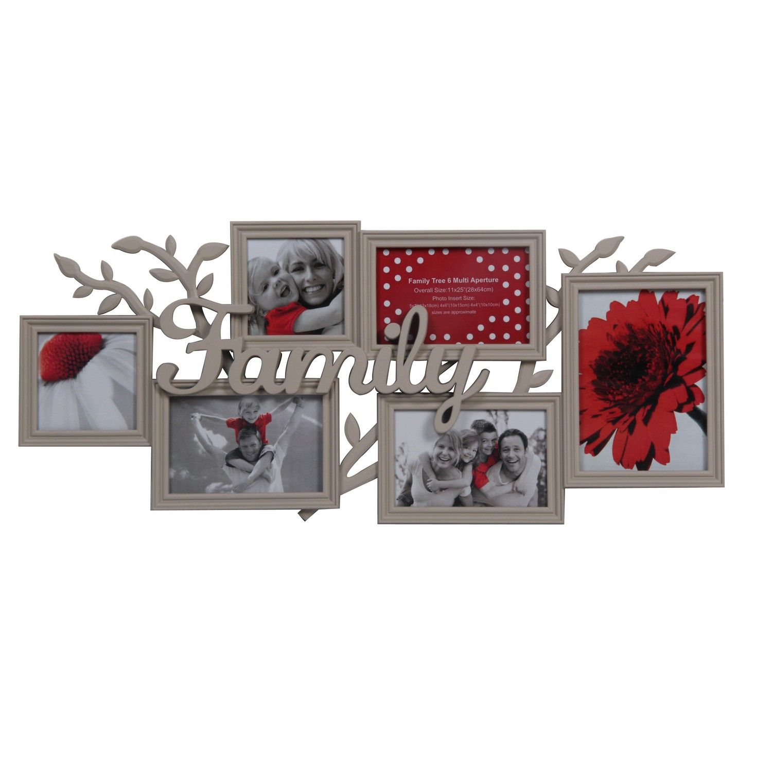 The family tree multi aperture frame is a great way to display ...