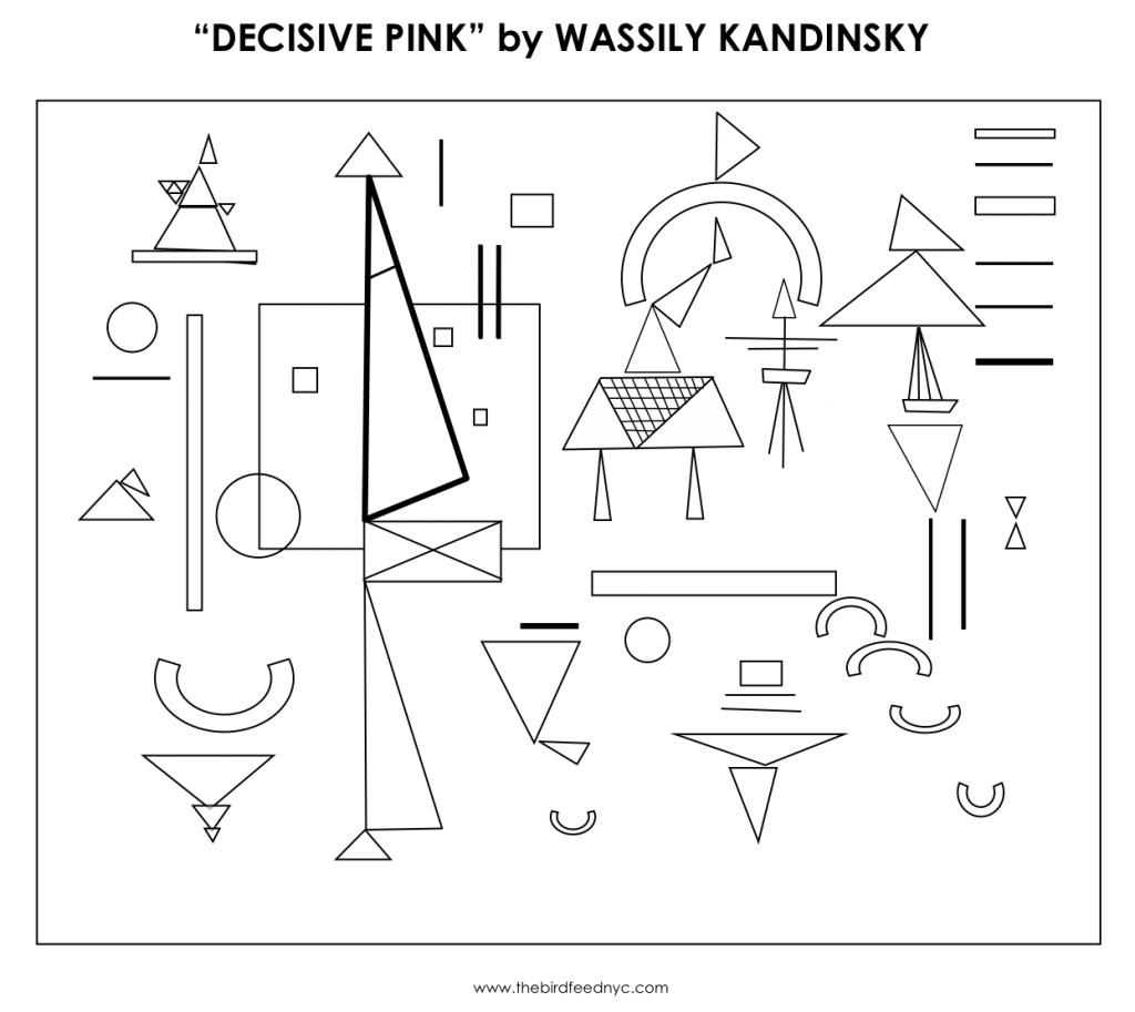 Kandinsky Coloring Activity