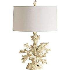 """Coral Lamp  NOW $99.99 Orig. $125 Create your own beach house with a couple of Oceans Candles (sold separately), well-placed wicker and a Coral Lamp. You are in the Bahamas, mama.  Size: 18""""W x 18""""D x 27""""H"""