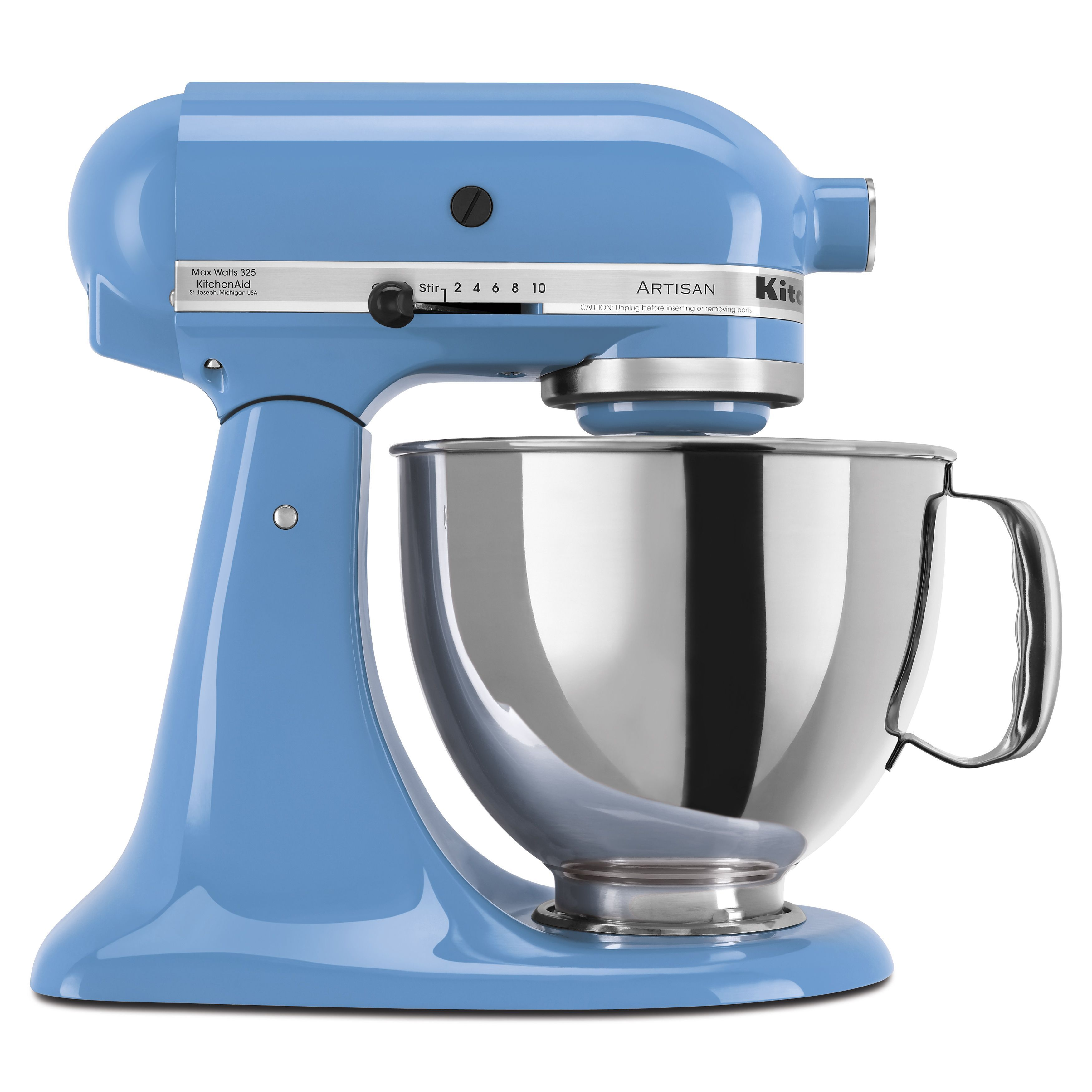 kitchenaid cornflower 5 quart artisan tilt head stand mixer with