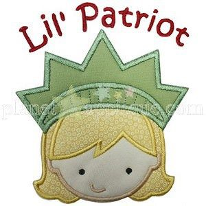 Little Patriot Girl: you can choose fabrics/colors.
