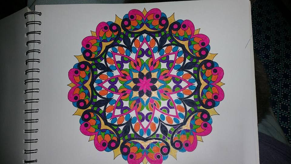 ColorIt Mandalas to Color Volume 1 Colorist: Patti Page #adultcoloring #coloringforadults #mandalas #mandalastocolor