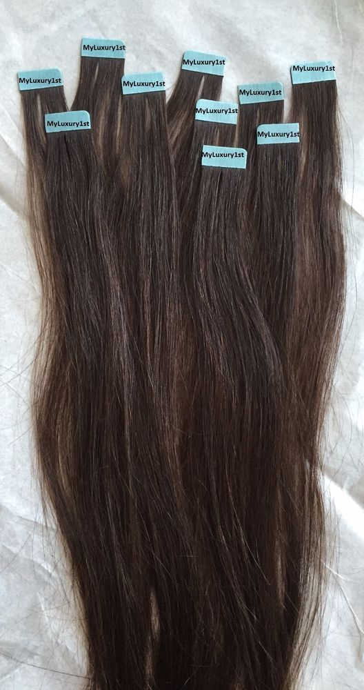 Chocolate Brown Mini Tape In Hair Extensions Easy 10 Tips 5 Tiny Streaks