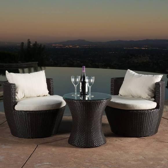 Outdoor Best Ing Home Decor Furniture Angelina Wicker 3 Piece Patio Conversation Set 296323