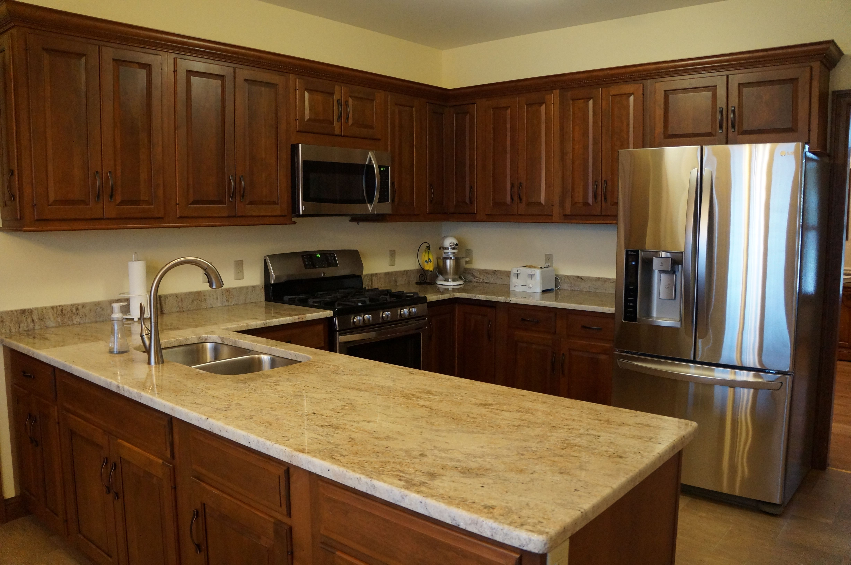 3cm Kashmir Cream granite in St. Louis, MO | bath remodel | Pinterest