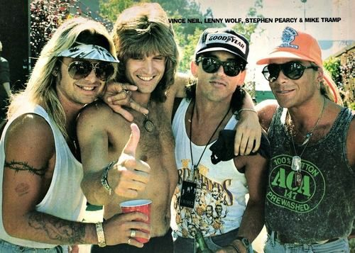 Vince Neil, Lenny Wolf, Stephen Pearcy and Mike Tramp