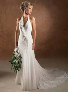 Lovely sexy lace top wedding dress Halter Wedding Gowns on Lace Halter Neck Wedding Dresses China
