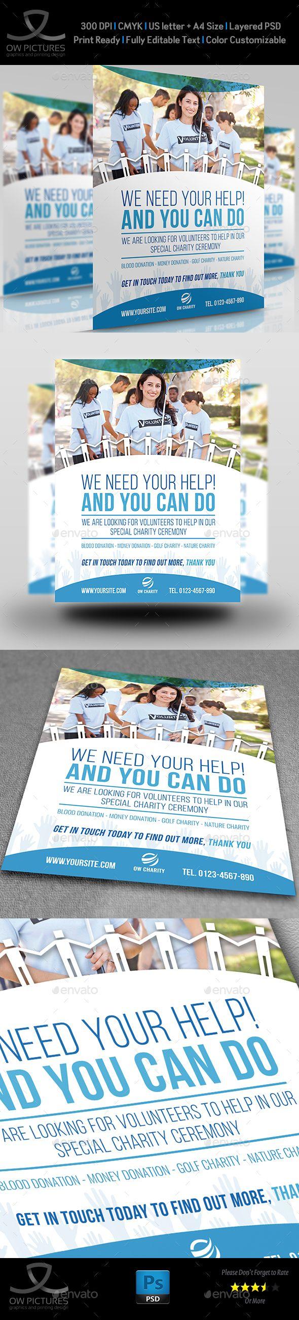 volunteer charity flyer template vol2