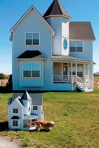 16 Doghouses Like Your House Dog Houses Design Your Dream House Dog House Bed