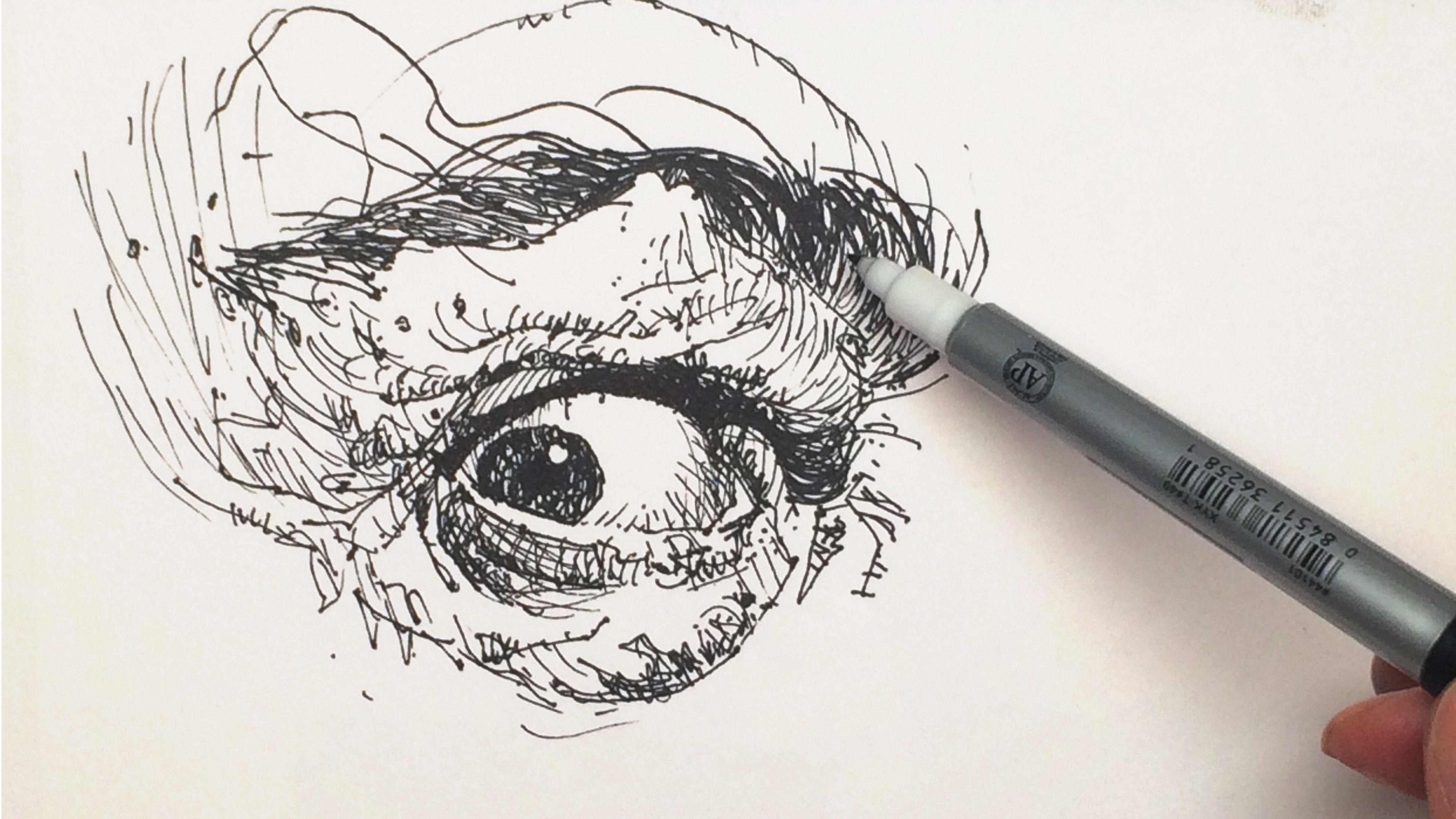 pen and ink portrait artists