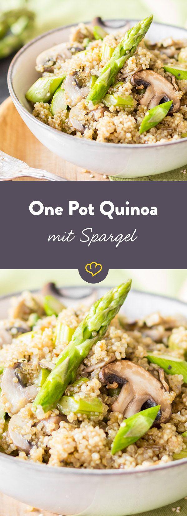Photo of Wenn dein Quinoa zu Risotto wird! One Pot Quinoa mit Spargel