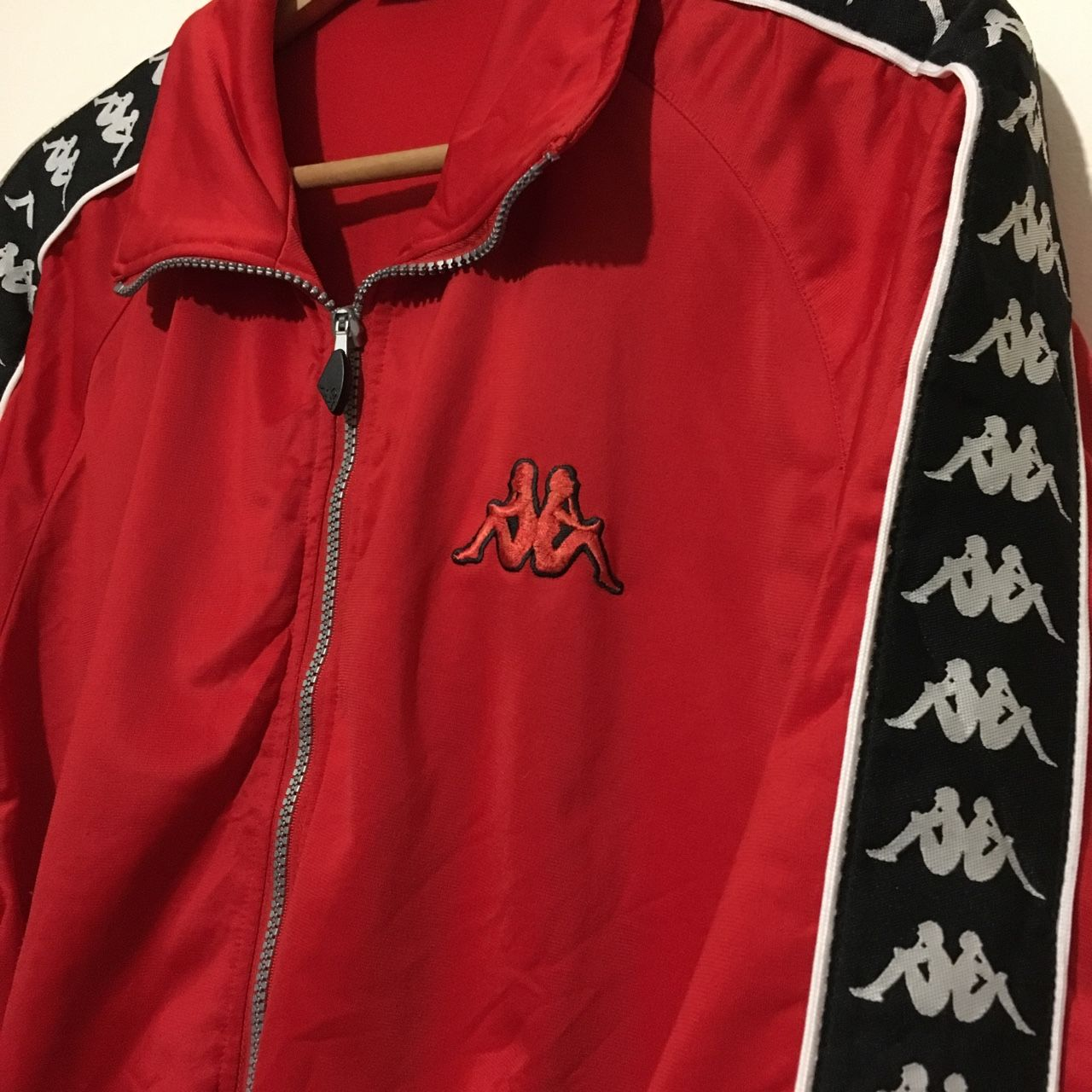 e95ed921db6cfe Kappa x FSV SALMROHR (German Football) Jacket   Track Top with classic  kappa ribbon detailing. Labelled 2XL but fits like an XL. Would looks great  oversized ...