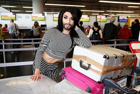 2014: Conchita Wurst vor ihrer Abreise nach Kopenhagen