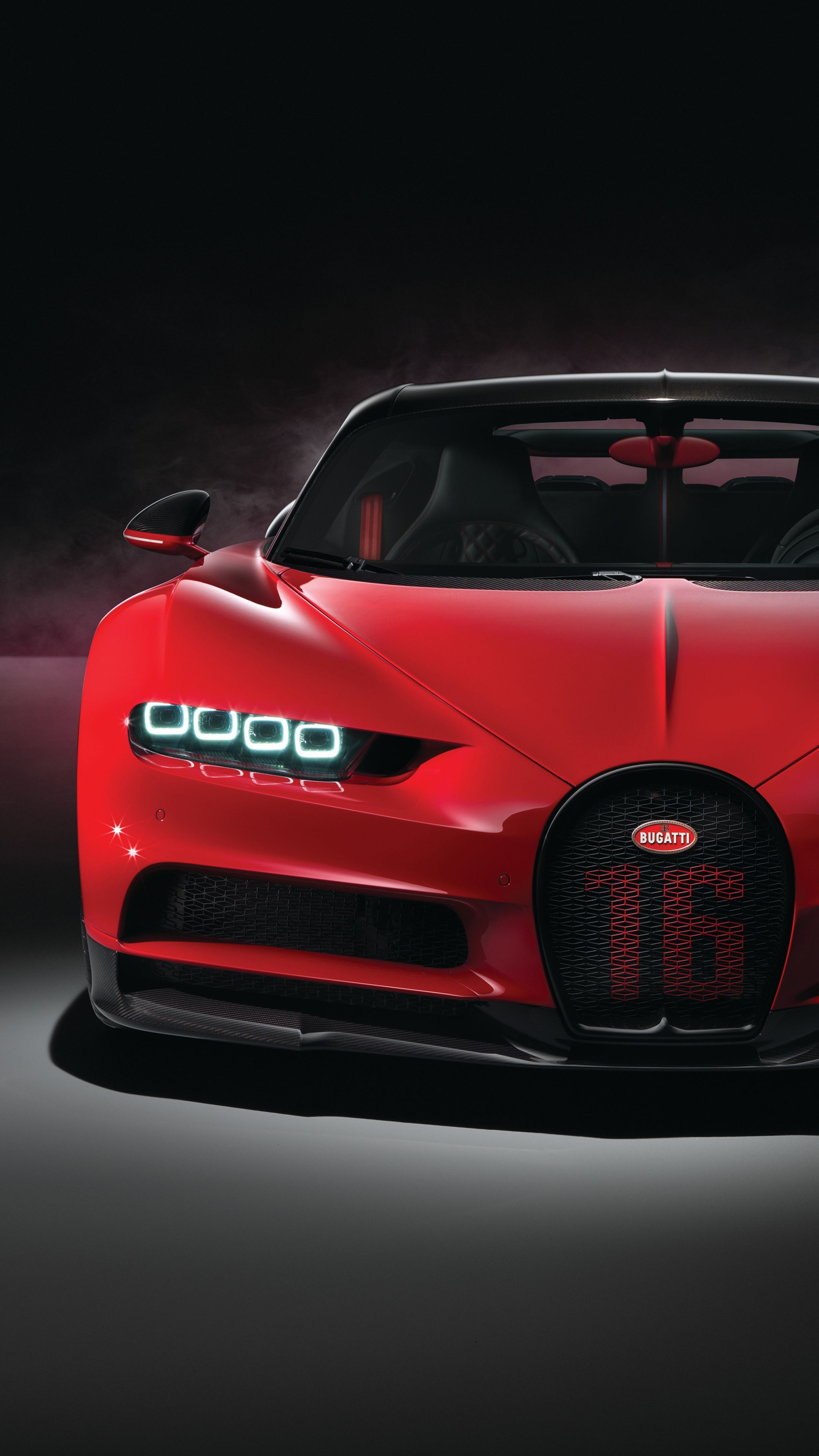 Cars Red Bugatti Chiron Sport 2018 4k wallpapers