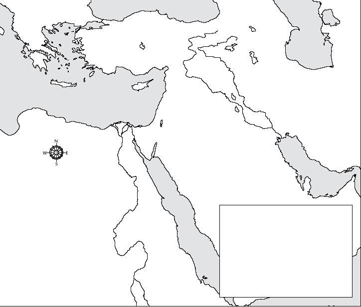 Blank map of the Middle East Geography Pinterest Middle east