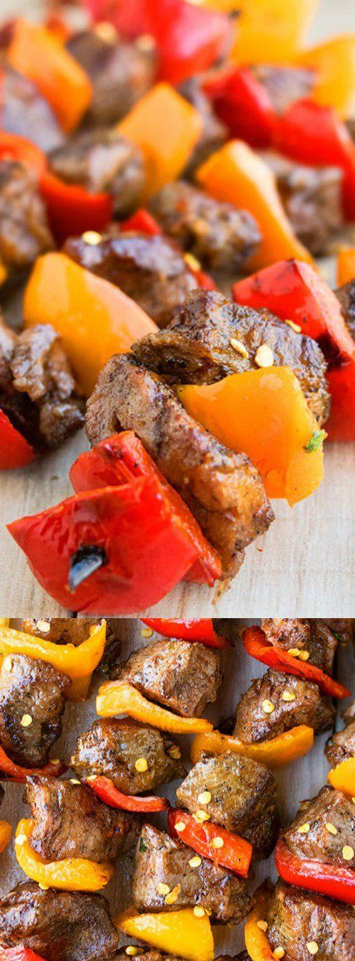 These Grilled Steak Kabobs from Cake Whiz are quick and easy for BBQ parties or family dinners! Sirloin steak is marinated in a simple but extra flavorful marinade then tossed on the BBQ or in the oven!