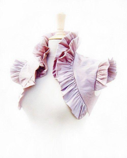 Dusky Rose Ruffled Silk Carina Bolero -- $186 -- from Bonzie on Etsy.com (Ireland)