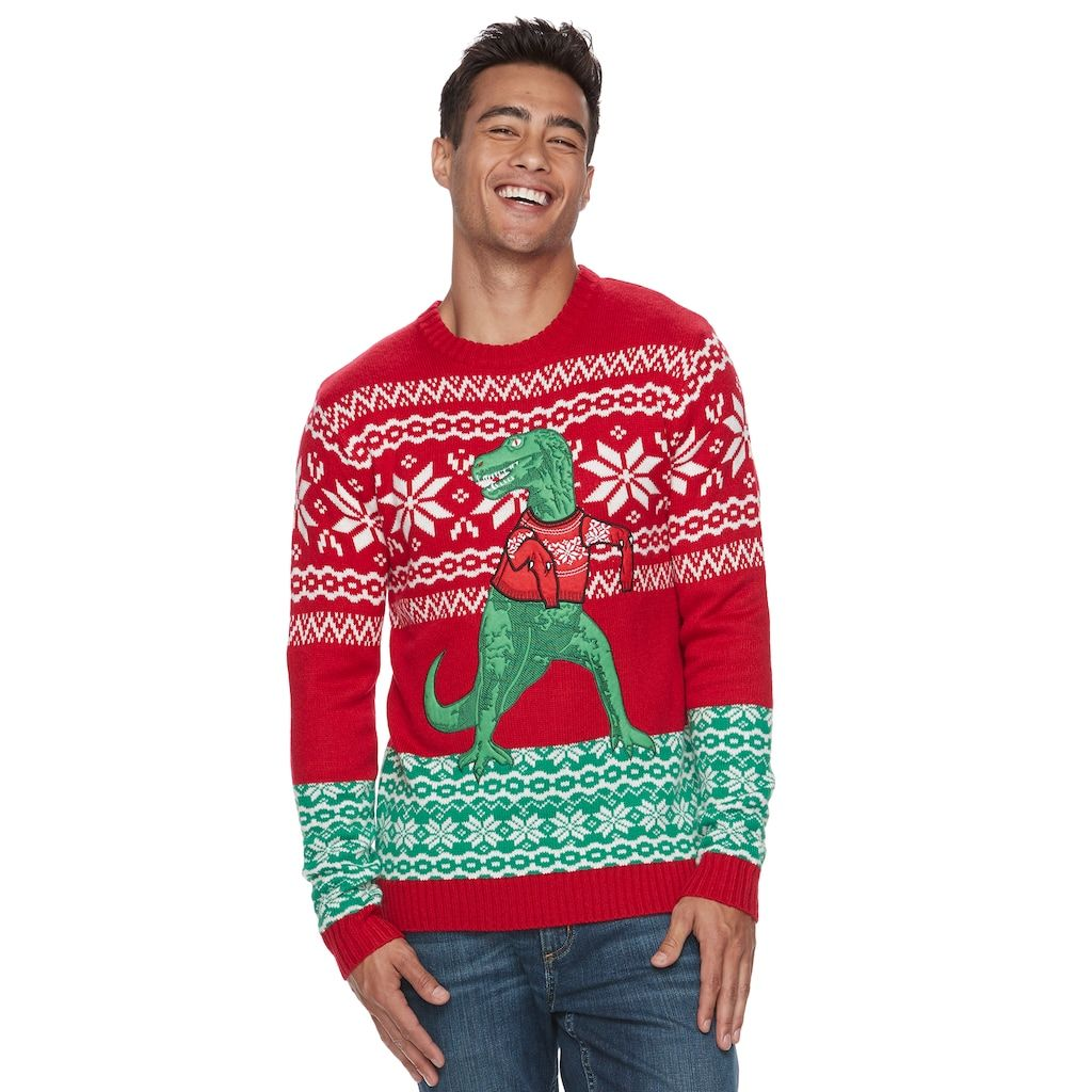 T Rex Christmas Sweater.Men S T Rex Ugly Christmas Sweater Products Ugly