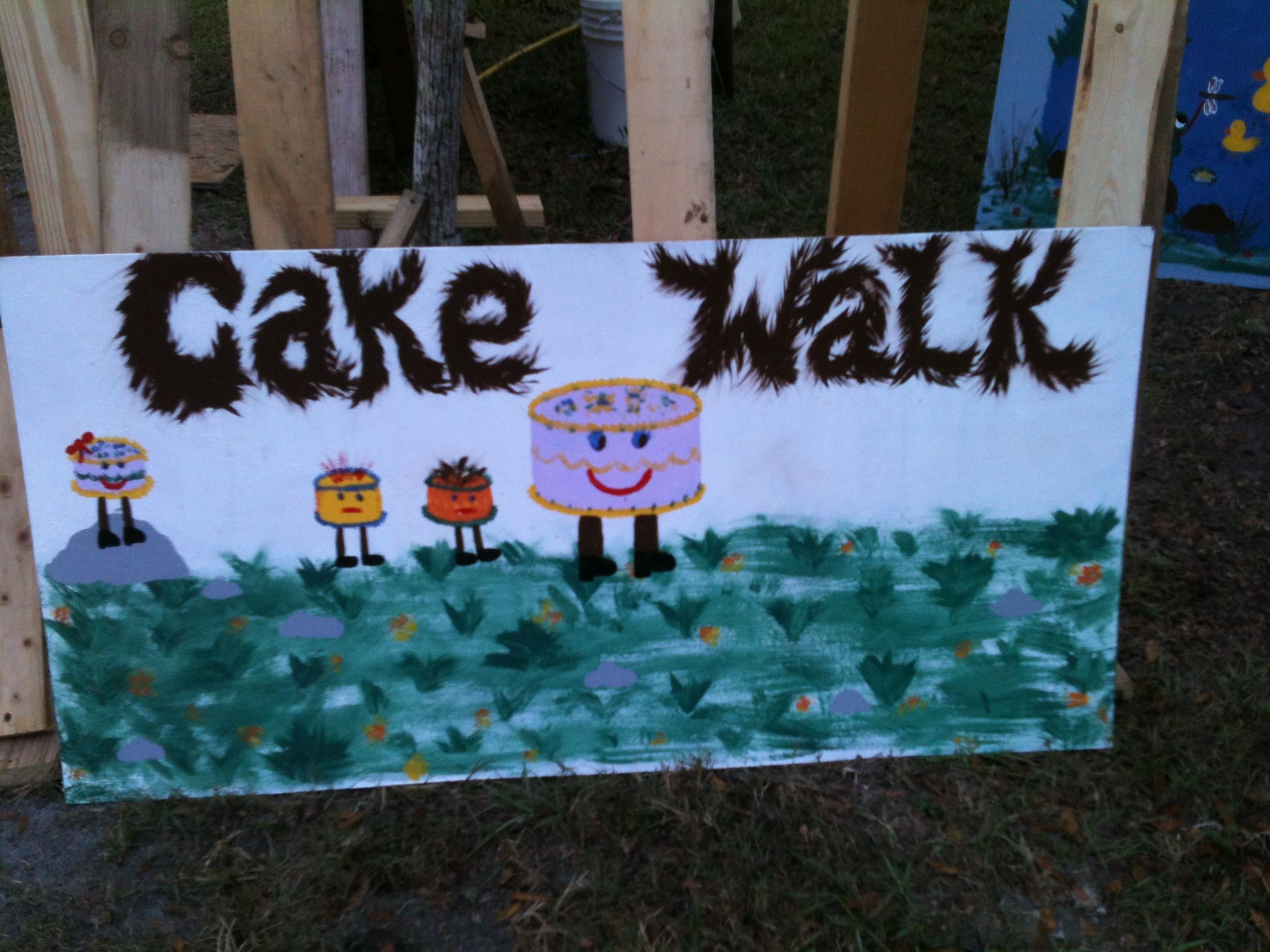 My cake walk sign Things made by me Pinterest