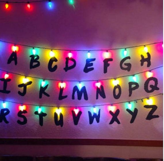 stranger things wall christmas lights alphabet upside down 011 holiday decorations st christmas light and vinyl alphabet wall