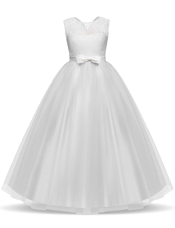 07d96af1c NNJXD Vestido de Fiesta de Tul de Encaje Falda de Princesa para ...